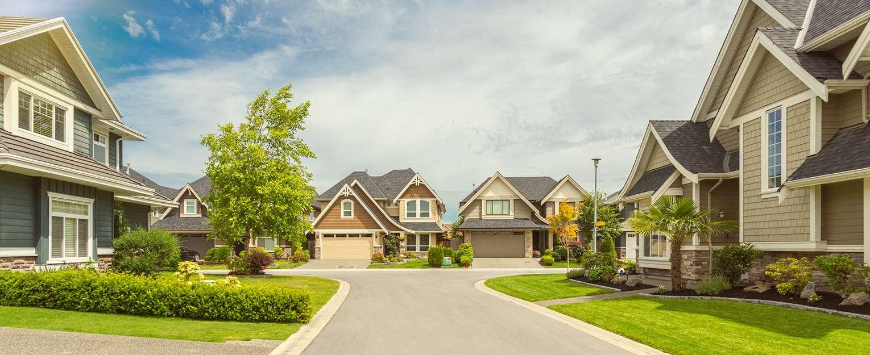 Neighborhood of houses.
