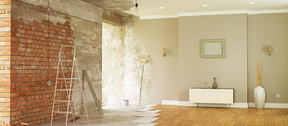 Interior home improvement project.