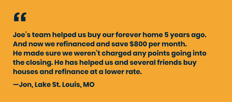 Testimonial from a satisfied customer.