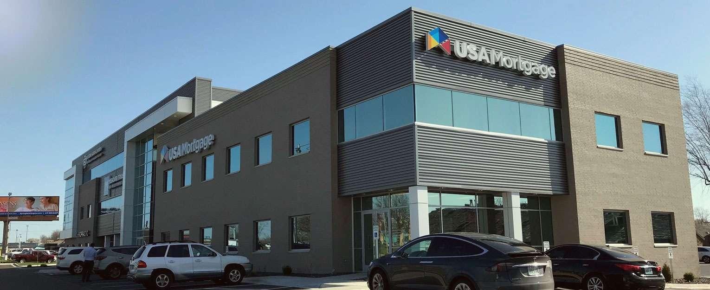 Exterior of USA Mortgage building.