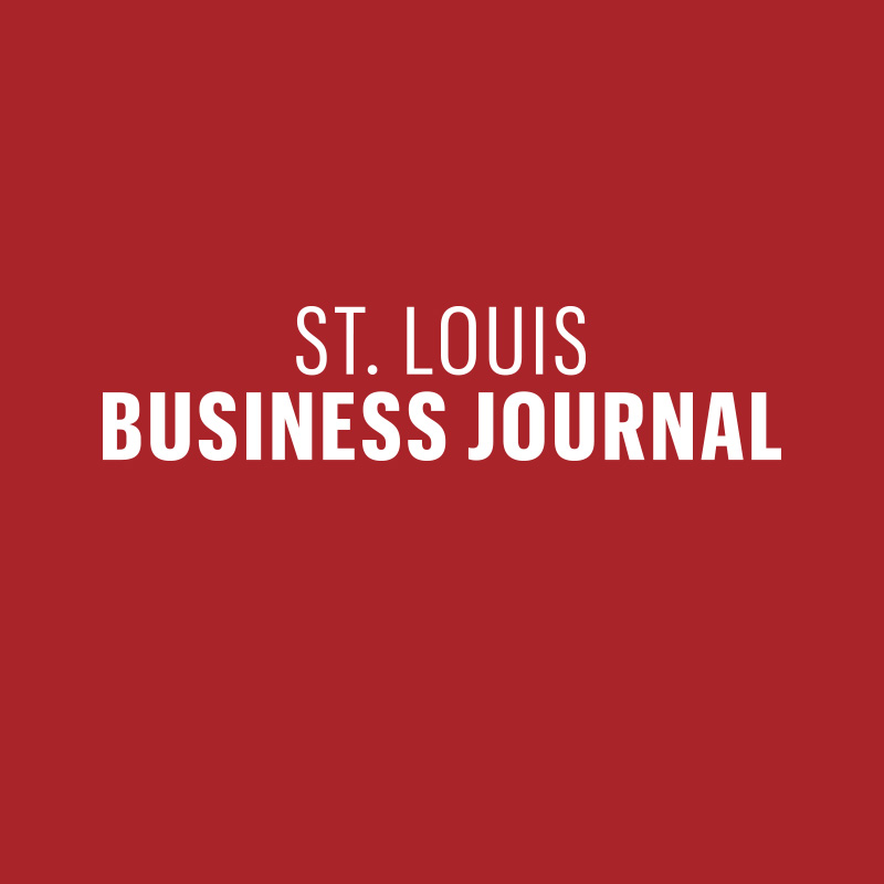 St. Louis Business Journal logo on a red background.